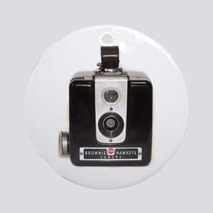 The Brownie Hawkeye Camera Ornament (Round)
