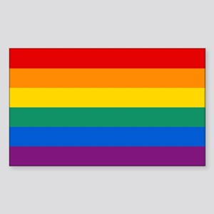Rainbow Flag Sticker (Rectangle)