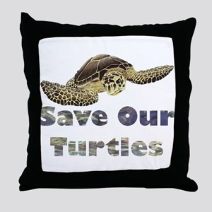 save-our-turtles Throw Pillow