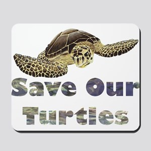 save-our-turtles Mousepad