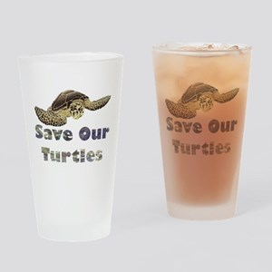 save-our-turtles Drinking Glass