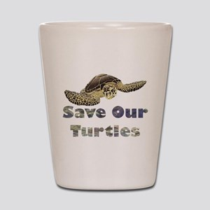 save-our-turtles Shot Glass
