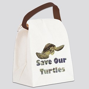 save-our-turtles Canvas Lunch Bag