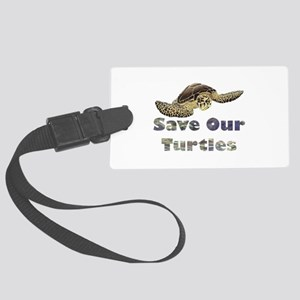 save-our-turtles Large Luggage Tag