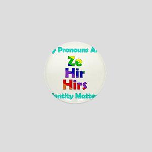 Ze Hir Hirs Pronouns Mini Button