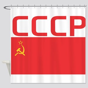 CCCP Flag Shower Curtain