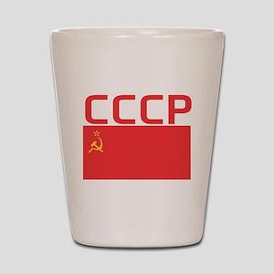 CCCP Flag Shot Glass