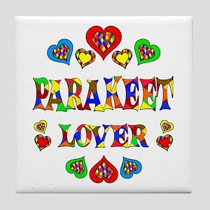 Parakeet Lover Tile Coaster