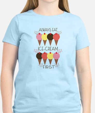 Ice Cream First Women's Light T-Shirt