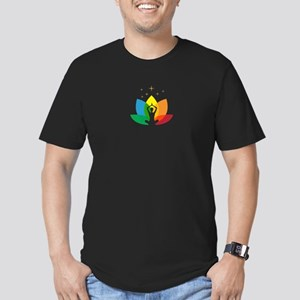 Namaste Symbol Men's Fitted T-Shirt (dark)