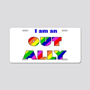 Out Ally Aluminum License Plate