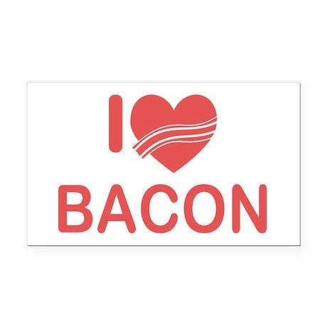 I Heart Bacon Rectangle Car Magnet