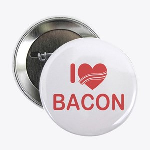 "I Heart Bacon 2.25"" Button"