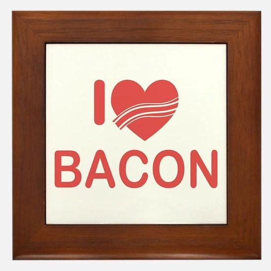 I Heart Bacon Framed Tile