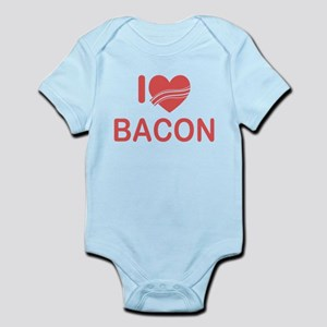 I Heart Bacon Infant Bodysuit