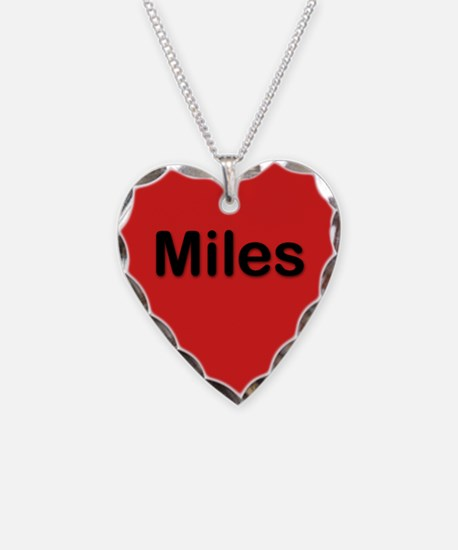 Miles Red Heart Necklace Charm