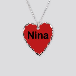Nina Red Heart Necklace Charm