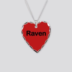 Raven Red Heart Necklace Charm