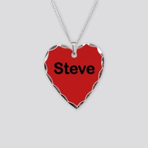 Steve Red Heart Necklace Charm