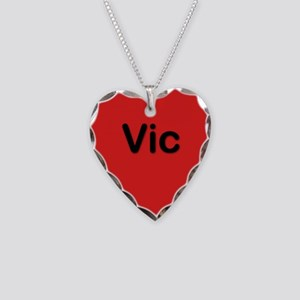 Vic Red Heart Necklace Charm