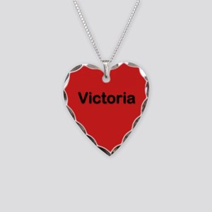 Victoria Red Heart Necklace Charm