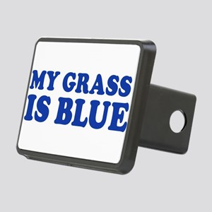 MY GRASS IS BLUE Rectangular Hitch Cover