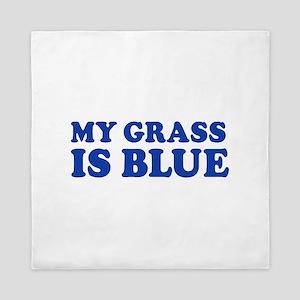 MY GRASS IS BLUE Queen Duvet