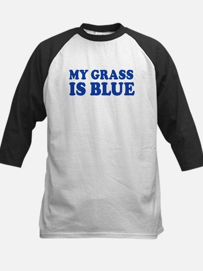 MY GRASS IS BLUE Kids Baseball Jersey