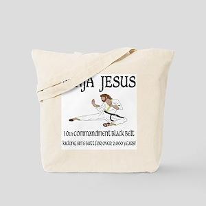 Ninja Jesus Tote Bag