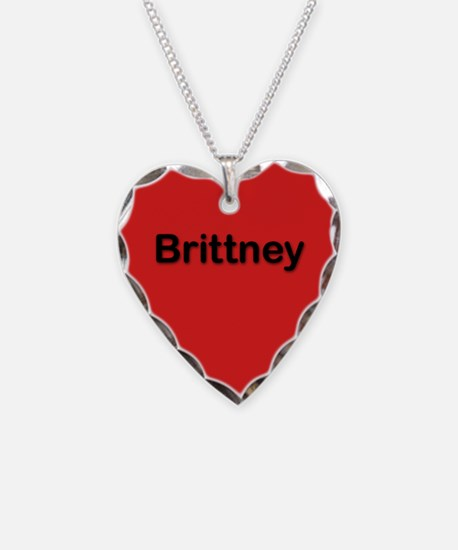 Brittney Red Heart Necklace Charm
