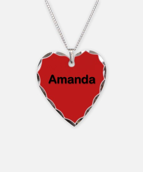 Amanda Red Heart Necklace Charm