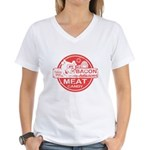 Bacon is Meat Candy Women's V-Neck T-Shirt