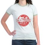 Bacon is Meat Candy Jr. Ringer T-Shirt