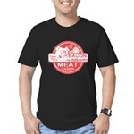 Bacon is Meat Candy Men's Fitted T-Shirt (dark)
