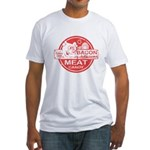 Bacon is Meat Candy Fitted T-Shirt