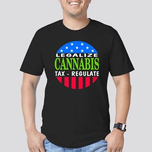 Legalize Cannabis Men's Fitted T-Shirt (dark)