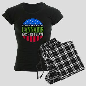 Legalize Cannabis Women's Dark Pajamas