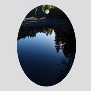River Reflections Ornament (Oval)
