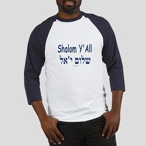 Shalom Y'all Hebrew English Baseball Jersey