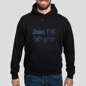 Shalom Y'all Hebrew English Hoodie (dark)