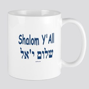 Shalom Y'all Hebrew English Mug