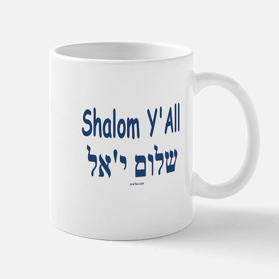 Shalom Y'all Hebrew English Mug
