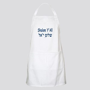 Shalom Y'all Hebrew English Apron