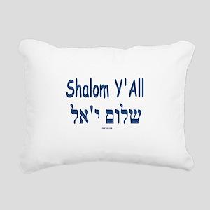 Shalom Y'all Hebrew English Rectangular Canvas Pil