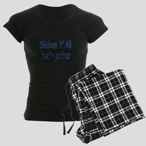 Shalom Y'all Hebrew English Women's Dark Pajamas