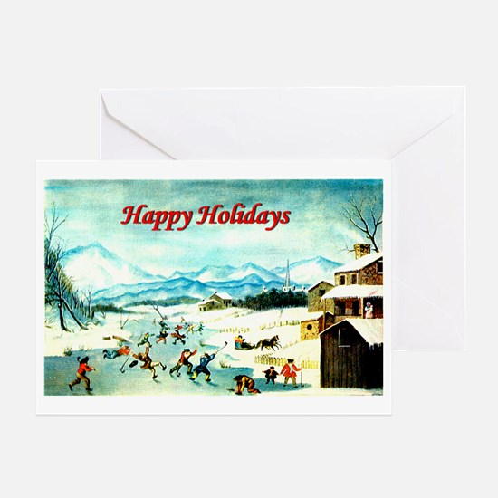 Holiday Hockey - Greeting Card