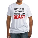 I AM A BEAST Fitted T-Shirt
