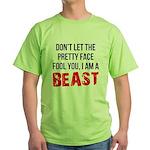 I AM A BEAST Green T-Shirt