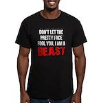 I AM A BEAST Men's Fitted T-Shirt (dark)