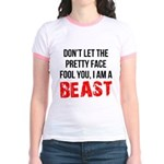 I AM A BEAST Jr. Ringer T-Shirt
